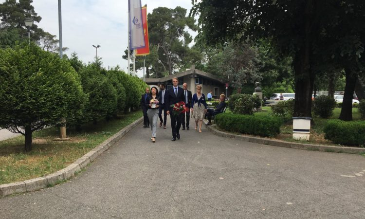 Chargé D'Affaires Judy Kuo and Head of EU Delegation Aivo Orav visited Lakic