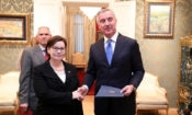 Judy Rising Reinke, presented diplomatic credentials to President of Montenegro Milo Djukanović