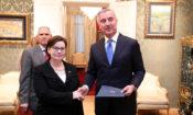 Judy Rising Reinke, presented diplomatic credentials to President of Montenegro Milo Djukanović