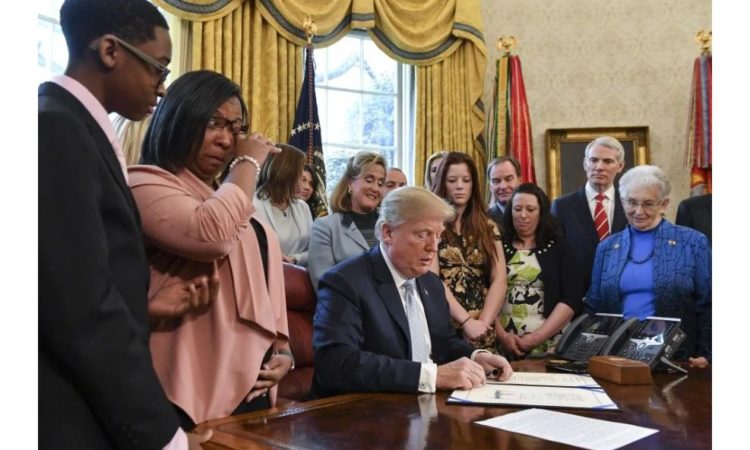 President Trump Signs Law Aimed at Curbing Sex Trafficking